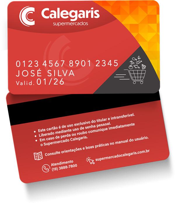 Cartão Calegaris - Frente e Verso
